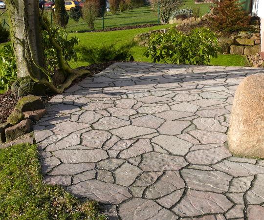 Gartengestaltung wieneke uslar referenzen pflasterfl chen im garten natursteine - Gartengestaltung mit sandstein ...